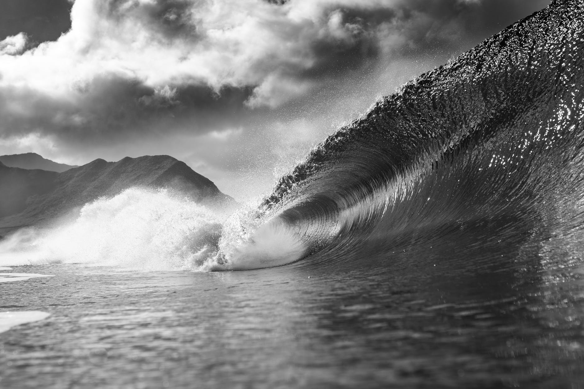 stormy ocean with big wave